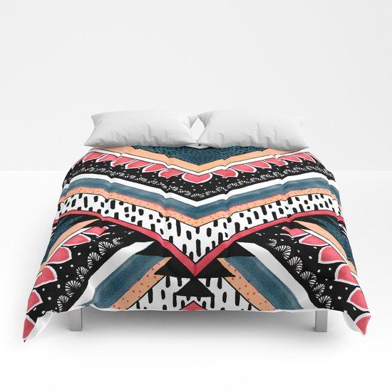 Tribal Geometric Chevron Comforters