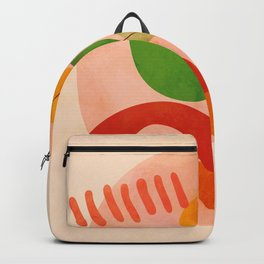 modern art abstract shapes play 3 Backpack