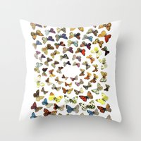 butterflies Throw Pillows featuring Butterflies by Ben Giles