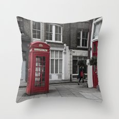 Red is everywhere Throw Pillow