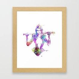 NAIL BAT Framed Art Print
