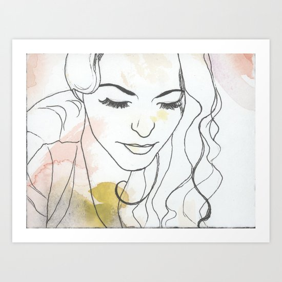 Watercolor Seventeen Art Print