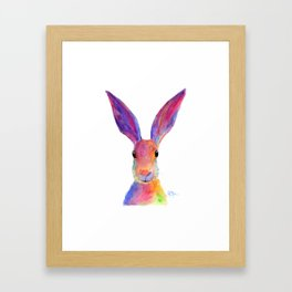 HaRe RaBBiT BuNNY PRiNT ' JeLLY BeaN ' BY SHiRLeY MacARTHuR Framed Art Print