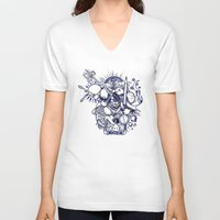 doodle V-neck T-shirts featuring Doodle by Puddingshades