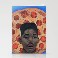 fresh prince Stationery Cards featuring Pizza Prince by Andiwa
