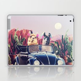 Llamas on the road Laptop & iPad Skin