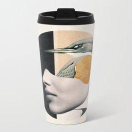 collage art / bird Metal Travel Mug