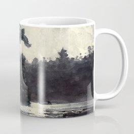 Adirondack Lake by Winslow Ho mer (1889) Coffee Mug