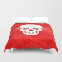 the thing Duvet Covers featuring Wild thing by Yasmina Baggili