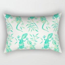 Geckos – Mint Palette Rectangular Pillow