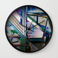 architecture Wall Clocks featuring Architecture by Paris Martin