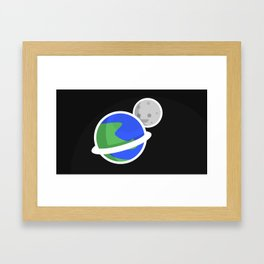 Space Circles Framed Art Print