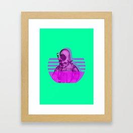 Space Diver Framed Art Print