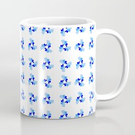 Symmetric patterns 158 blue Coffee Mug