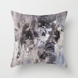 Monochrome Chaos Throw Pillow