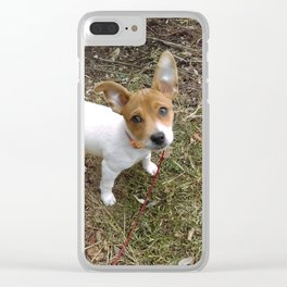 Lil Pup Clear iPhone Case