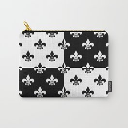 Black & white royal lilies (chessboard) Carry-All Pouch