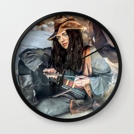 Captain Lena Luthor color version Wall Clock