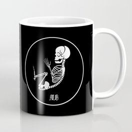 Skelembryo (black background) Coffee Mug
