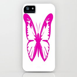Hot Pink Butterfly  iPhone Case