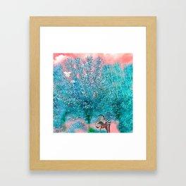 TREES AND ZEBRAS Framed Art Print