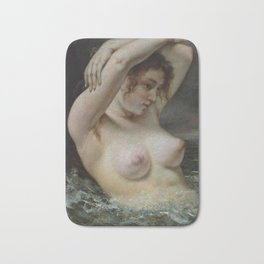 Gustave Courbet - The Woman in the Waves (1868) Bath Mat