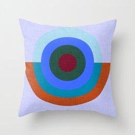 Solaris Blue  #homedecor #midcenturymodern #midcentury Throw Pillow