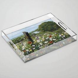 Wild Daisies Acrylic Tray