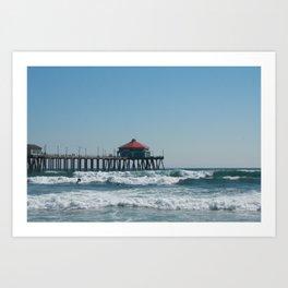 Huntington Beach Life Art Print