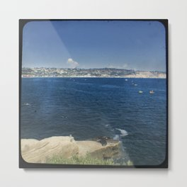 Kayakers in the Cove Metal Print