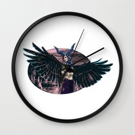 Riae Suicide Vector Illustration Wall Clock