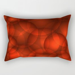 Glowing bloody soap circles and volumetric red bubbles of air and water. Rectangular Pillow