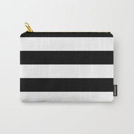 Black and White Large Stripes Carry-All Pouch