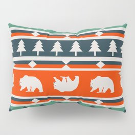 Winter bears and trees Pillow Sham