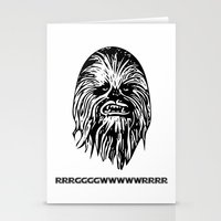chewbacca Stationery Cards featuring Chewbacca by C Liza B