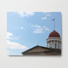 Illinois Old State Capitol Metal Print