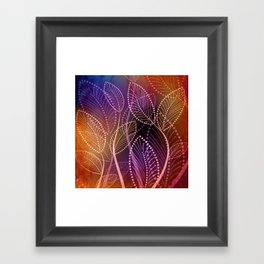 A Colors Warmth Framed Art Print