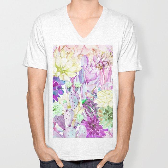 Lilac garden Unisex V-Neck