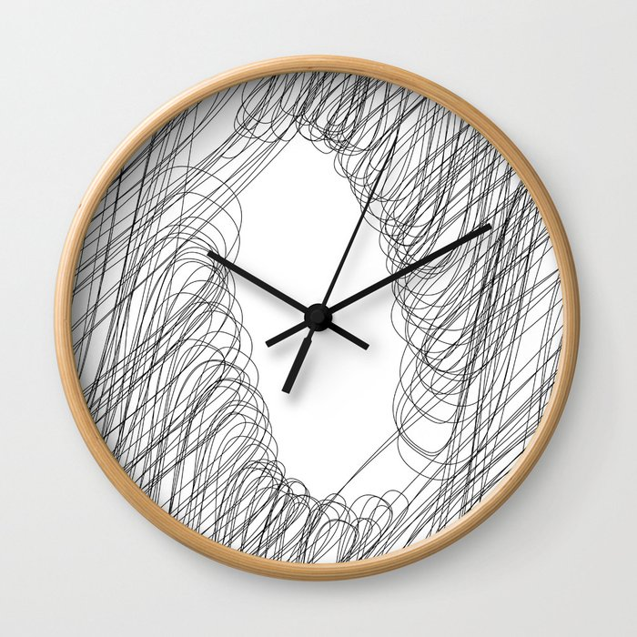 """"""" Cloud Collection """" - Minimal Letter O Print Wall Clock"""