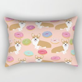 Welsh Corgi red corgis donuts doughnuts pet art dog breed gifts Rectangular Pillow