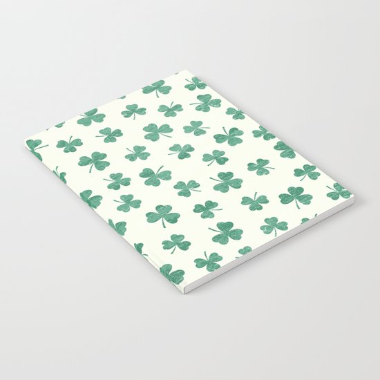 DANCING SHAMROCKS on cream Notebook