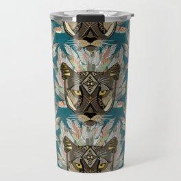 native mountain lion blue Travel Mug