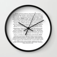 ARTIST in 91 languages Wall Clock