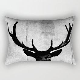 Industrial Black Deer Silhouette A313 Rectangular Pillow