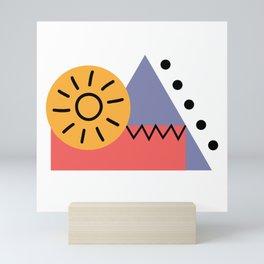 shape sunrise Mini Art Print