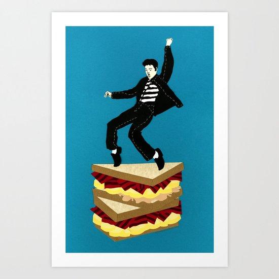 Homage To Elvis Art Print