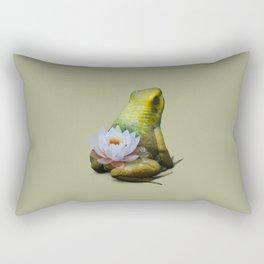 Lily Frog Rectangular Pillow