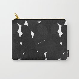 Dark Tropical Leaves Carry-All Pouch