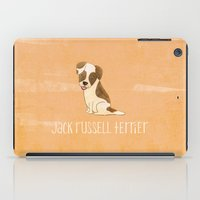 jack russell iPad Cases featuring Jack Russell Terrier by 52 Dogs