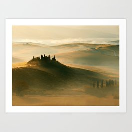 Sunrise in Val D'Orcia Art Print